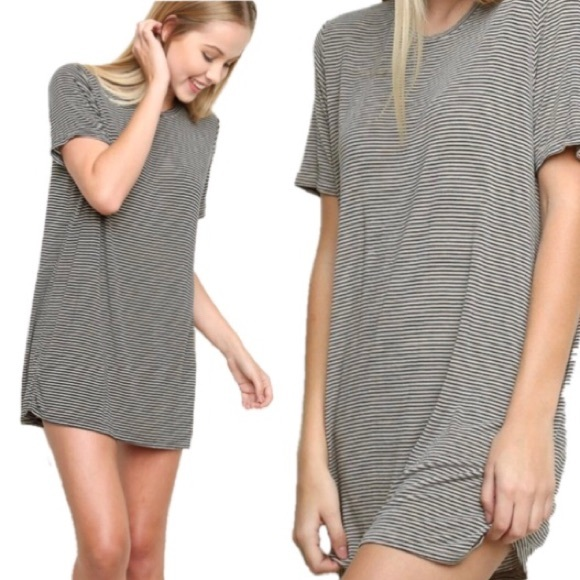 Brandy Melville Dresses & Skirts - [Brandy Melville] Striped Oversized T-Shirt Dress